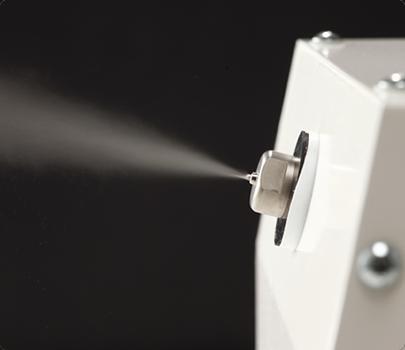 JAXA(宇宙航空研究開発機構)の「知的財産プログラム」と連携し開発したミスト噴霧技術